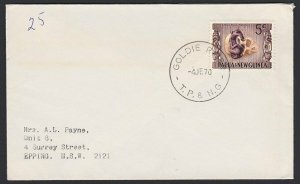 PAPUA NEW GUINEA 1970 cover ex GOLDIE RIVER.................................G865