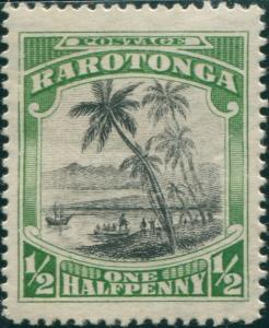 Cook Islands 1924 SG81 ½d Captain Cook landing MH