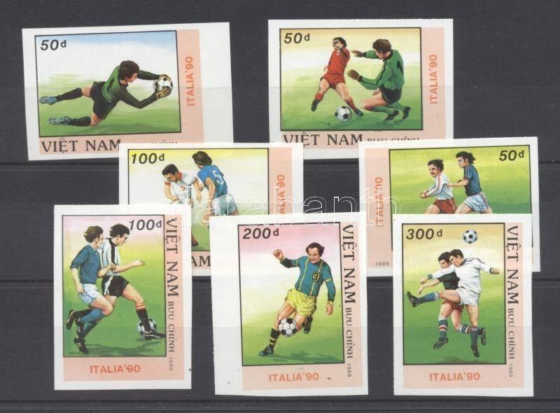 Vietnam stamp Football World Cup, Italy (I) imperforated set MNH 1989 WS107300