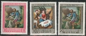 Colombia Scott 747, C439-440 MNH** 1960 set