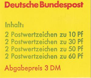 Germany #1231d Complete Booklet CV $9.00 (A19953)