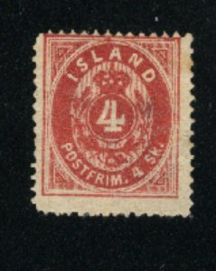 Iceland 2  used  1873 PD