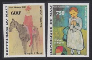 Mali Birth Centenary of Pablo Picasso 2v imperf SG#874-875 SC#C434-C435