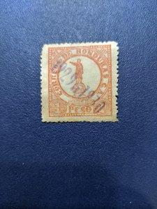 Honduras 278 VF-XFNH, CV $10