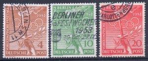Germany Berlin 1952 #9N81-83 VF Used Complete Set