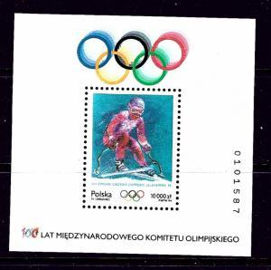 Poland 3187 MNH 1994 Olympics S/S