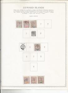 LEEWARD ISLANDS NICE OLD GROUP MH/USED SCV $60++