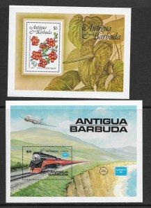Antigua 759 , 938 MNH s/s  vf, 2022 CV $11.50