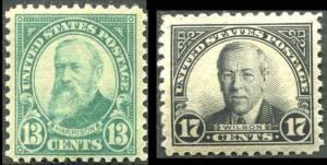 US 617 - 619 Lexington Concord Set 1925 Fine MH