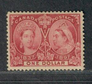 Canada Sc#61 M/H/VF, Jubilee $1, Cv. $1000