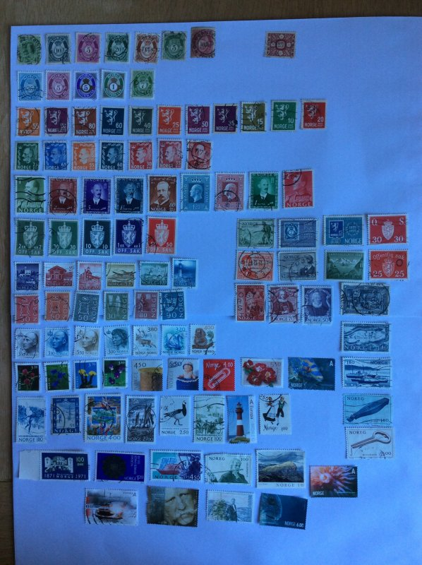 Norway 100+ stamps - Lot D
