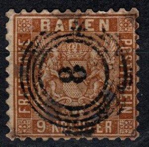 Baden #17 F-VF Used  CV $72.50  (X5202)