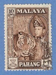 Malaya Pahang 77 Used Pencil Mark - Tiger, Abu Bakar