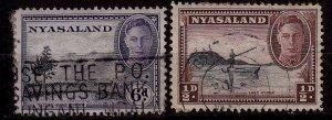 Malawi (Nyasaland) - #68,74 - 1945 - FU - CV$1.10