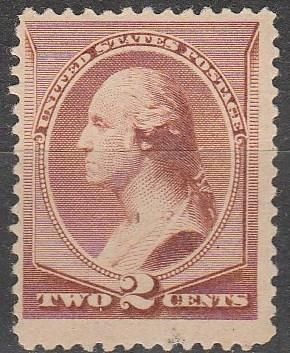 US #210 F-VF Unused  CV $130.00 (S74)