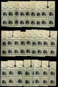 PLATE BLOCKs 4 - #833 $2 PREXY.....VF og NH (x22 w/ARROWS)