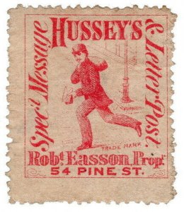 (I.B) US Local Post : Hussey's Special Message & Letter Post