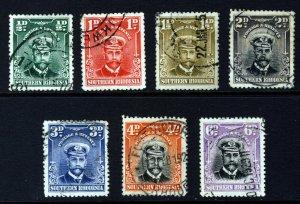 SOUTHERN RHODESIA KG V 1924-29 Admirals Part Set to 6d. SG 1 to SG 7 VFU