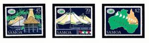 Samoa 717-19 MNH 1988 Expo 88