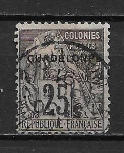 Guadeloupe 21 1891 25c single Used