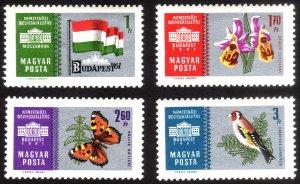 1961, Hungary, MNH set, Sc 1392-95