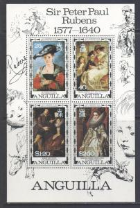 Anguilla Scott 304a, 1977 Rubens Mini Sheet MNH**