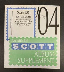 Spain 2004, Scott Specialty Album Supplement #56, Scott Item #355S004