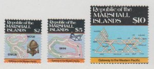 Marshall Islands Scott #107-108-109 Stamps - Mint NH Set
