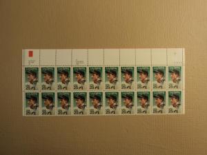 USPS Scott 2417 25c 1989 Lou Gehrig Mint NH Plate Block 2...