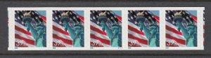 USA PNC SC# 3983 FLAG & LIBERTY $0.39c PL# V1111 RE-PRINT - S.A. PNC5 MNH