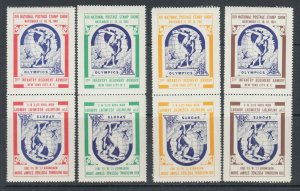 US MNH. 1961 ASDA Labels, perforated vertical tete-beche pairs, complete set