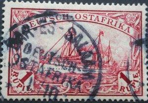 German East Africa 1901 One Rupee with DAR ES SALAAM postmark