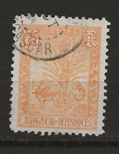 Madagascar 74 Used VF 1903 SCV $25.00 (jr)