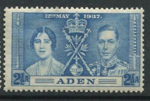 ADEN - Scott 14 - Coronation Issue - 1937- MNH - Single 2.1/2a Stamp