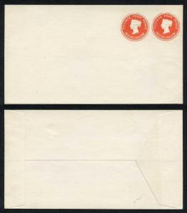 ESC69 QV 4d and 4d Compound Stamped to Order Envelope Dated 8.8.92 Mint