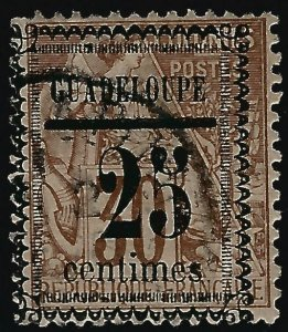 Guadeloupe Scott #9 Overprint Used F-VF SCV$45...French Colonies are hot!