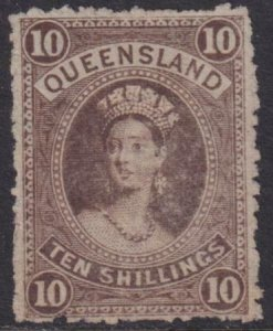 Australia - Queensland 1883 SC 77 Used