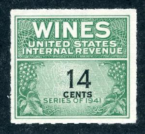 Scott RE126 - 14 cents - 1942 Wines - MNH - No Gum As Issued