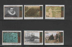 DOMINICA #2713a-h  2009 DISCOVERY OF MANHATTEN BY HUDSON   MINT  VF NH  O.G
