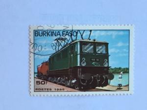 Burkino Faso – 1985 – Single Train Stamp – SC# 732 – Used