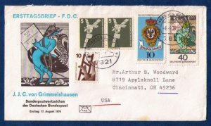 FRG WEST GERMANY FDC SG 1794 DEUTSCHE BUNDESPOST  MYTHICAL CREATURE STAMPS VF