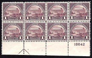 571 Mint,OG,NH... Block of 8 w/Arrow and Plate#... SCV $620.00