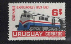 Uruguay Scott 770 MH* Train stamp