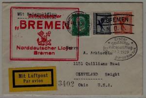 Germany Catapult cover 22.7.29 Bremen