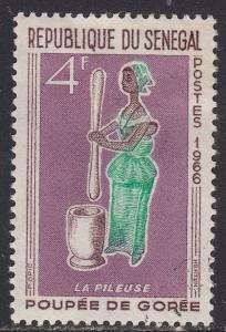 Senegal 264 Hinged 1966 Woman Pounding Grain