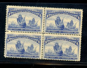 233 MINT Block FVF OG LH  Cat$225