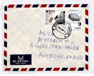 CM342 *ZAIRE* Missionary Air Mail MIVA Austria Cover