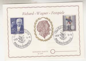 GERMANY,BERLIN, 1955 Stamp Exhib. 20pf.+10pf. on Richard Wagner Festival Card.