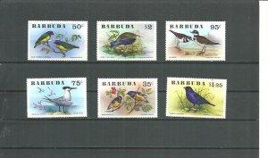 Barbuda MNH 238-43 Birds 1978
