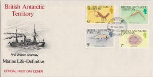 British Antarctic Territory Scott 106-109 Unaddressed.